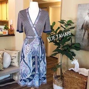 🌸👗ELIE TAHARI beautiful silk wrap dress ❤️
